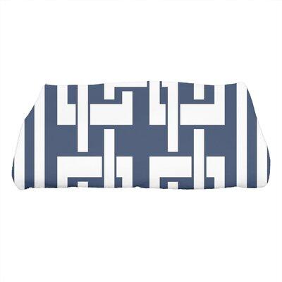 Harriet Geometric Print Bath Towel Color: Navy Blue