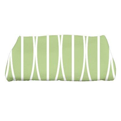 Sailer Ovals Go Round Geometric Print Bath Towel Color: Green