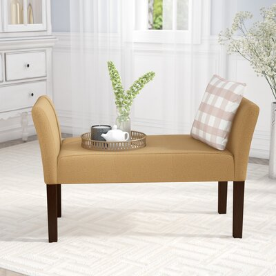 Millerstown Upholstered Bench Color: Nugget