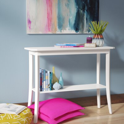Lockheart Console Table Color: White