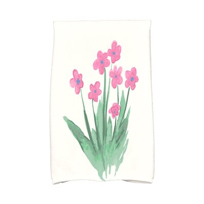 Monroe Pretty Little Flower Hand Towel Color: Pink