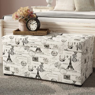 Pavot Upholstered Storage Bench Color: French Onyx