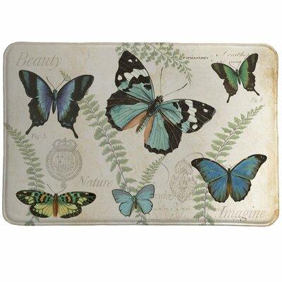 Clary Butterfly Naturelle Memory Foam Bath Rug