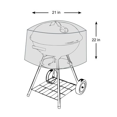 """Kettle Grill Cover Size: 20.9"""" H x 22"""" W x 22"""" D"""
