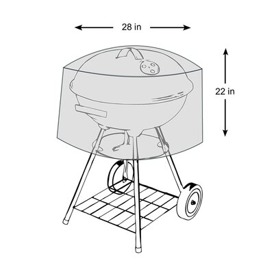 """Kettle Grill Cover Size: 22"""" H x 28"""" W x 28"""" D"""