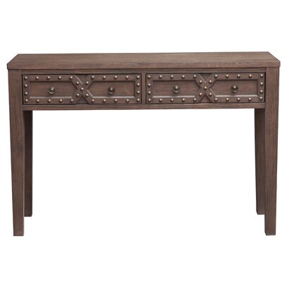 Starr Traditional Distressed 2 Doors Storage Console Table