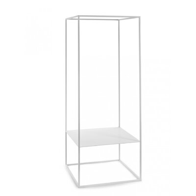 "Hedman Rack Plant Stand Size: 46.8"" H x 18.33"" W x 18.33"" D, Color: White"