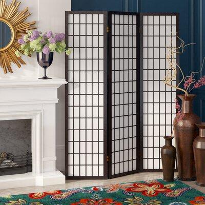 Jemaa 3 Panel Room Divider Color: Black