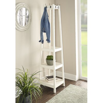 Weathers Coat Rack Color: White