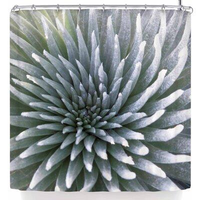 Susan Sanders White Tropical Flower Shower Curtain