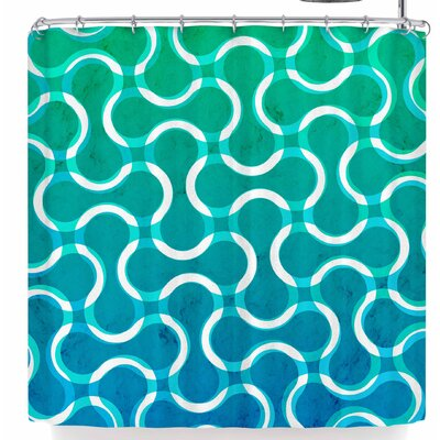 Tobe Fonseca Motherboard Lines Shower Curtain