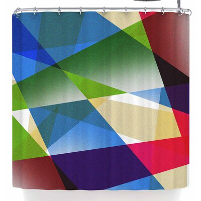 Tobe Fonseca Geometric Fractal Prism Shower Curtain