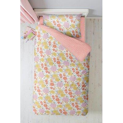 Deutsch Floral and Herringbone 4 Piece Toddler Bedding Set
