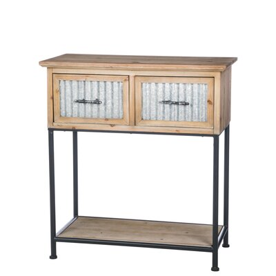Lockman Farmhouse 2 Drawer Console Table