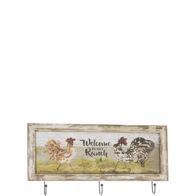 Charland Rooster Wall Mounted Coat Rack