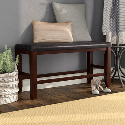 Stanley Upholstered Bench Color: Cherry