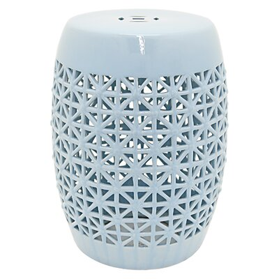 Hargett Wood Pedestal Garden Stool Color: Light Blue