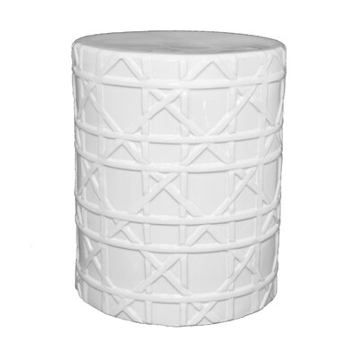 Elliot Garden Stool Color: White