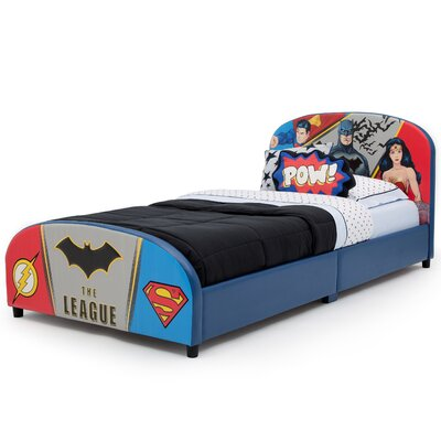 DC Comics Justice League Upholstered Twin Panel Bed