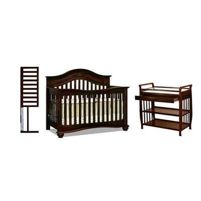 Deblois 3-in-1 Convertible Crib Set Color: Cherry