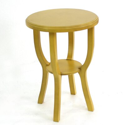 Collett Style Light Wooden Accent Stool Color: Yellow
