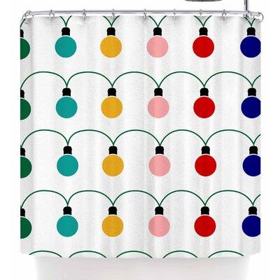 Bruxamagica Christmas Lights Shower Curtain