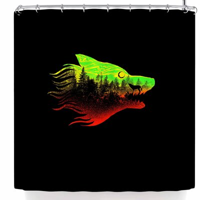BarmalisiRTB The Wolf Colors Shower Curtain