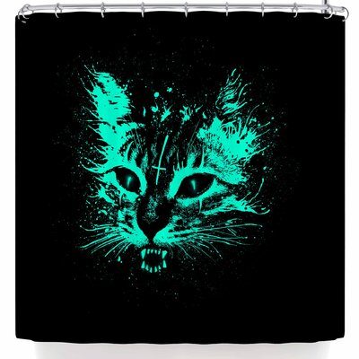 BarmalisiRTB Angry Cat Shower Curtain