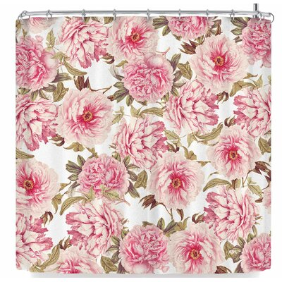 Sylvia Cook Vintage Peonies Shower Curtain