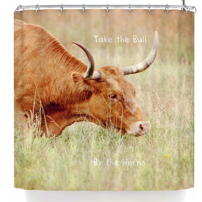 Sylvia Coomes Take The Bull By The Horns Shower Curtain