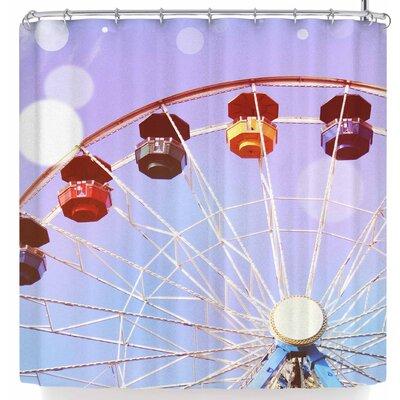 Sylvia Coomes Pastel Ferris Wheel Shower Curtain