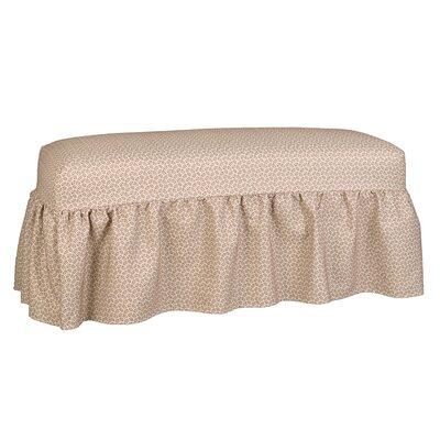 Copeland Gathered Slipcover Bench Upholstery: Lemon Grass