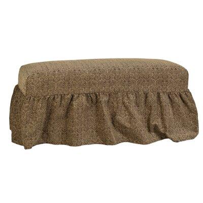 Copeland Gathered Slipcover Bench Upholstery: Portigo Saddle