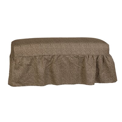 Copeland Gathered Slipcover Bench Upholstery: One Chocolate