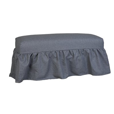 Copeland Gathered Slipcover Bench Upholstery: Bentley Sea