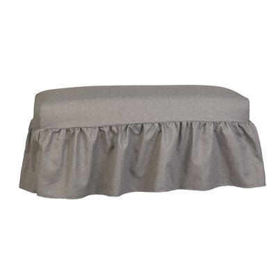 Copeland Gathered Slipcover Bench Upholstery: Bentley Charcoal