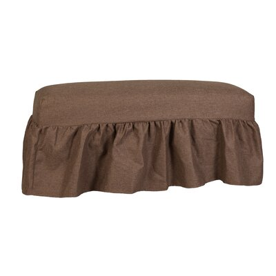 Copeland Gathered Slipcover Bench Upholstery: Lisburn Rattan