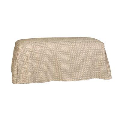Copeland Tailored Slipcover Bench Upholstery: Lemon Grass