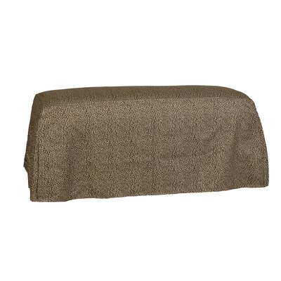 Copeland Tailored Slipcover Bench Upholstery: One Chocolate
