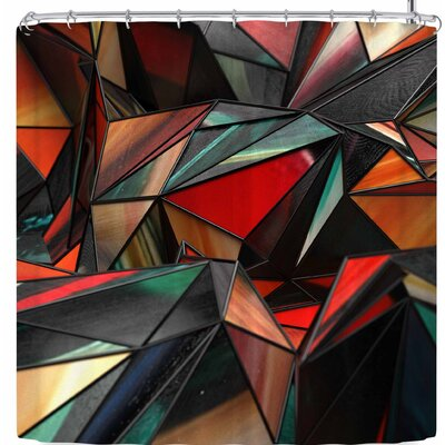 Danny Ivan Triangles Shower Curtain