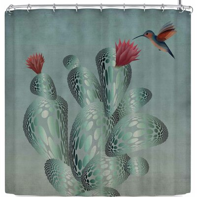 Angelo Cerantola Hummingbird and Cactus Shower Curtain