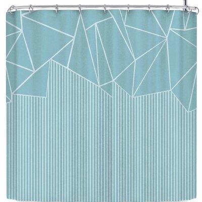 Project M Ab Lines Salt Shower Curtain Color: Blue
