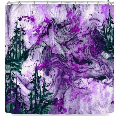 Ebi Emporium Anything Worth Having Aqua Shower Curtain Color: Purple