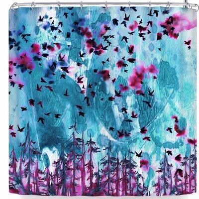Ebi Emporium We're Better Together Shower Curtain Color: Blue