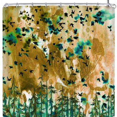 Ebi Emporium We're Better Together Shower Curtain Color: Tan