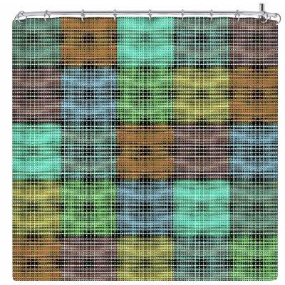 Ebi Emporium The Patchwork Tartan 3 Shower Curtain Color: Green/Brown