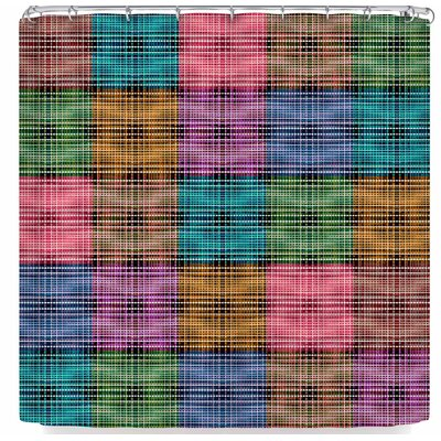 Ebi Emporium The Patchwork Tartan 3 Shower Curtain Color: Pink/Green/Blue