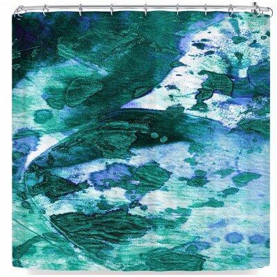 Ebi Emporium Color Blots 6 Shower Curtain Color: Green/Blue