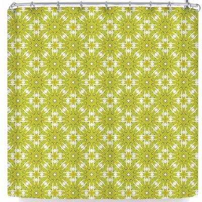 Laura Nicholson Maple Leaves Geometric Shower Curtain