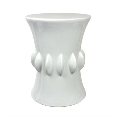 Doe Ceramic Garden Stool Color: White